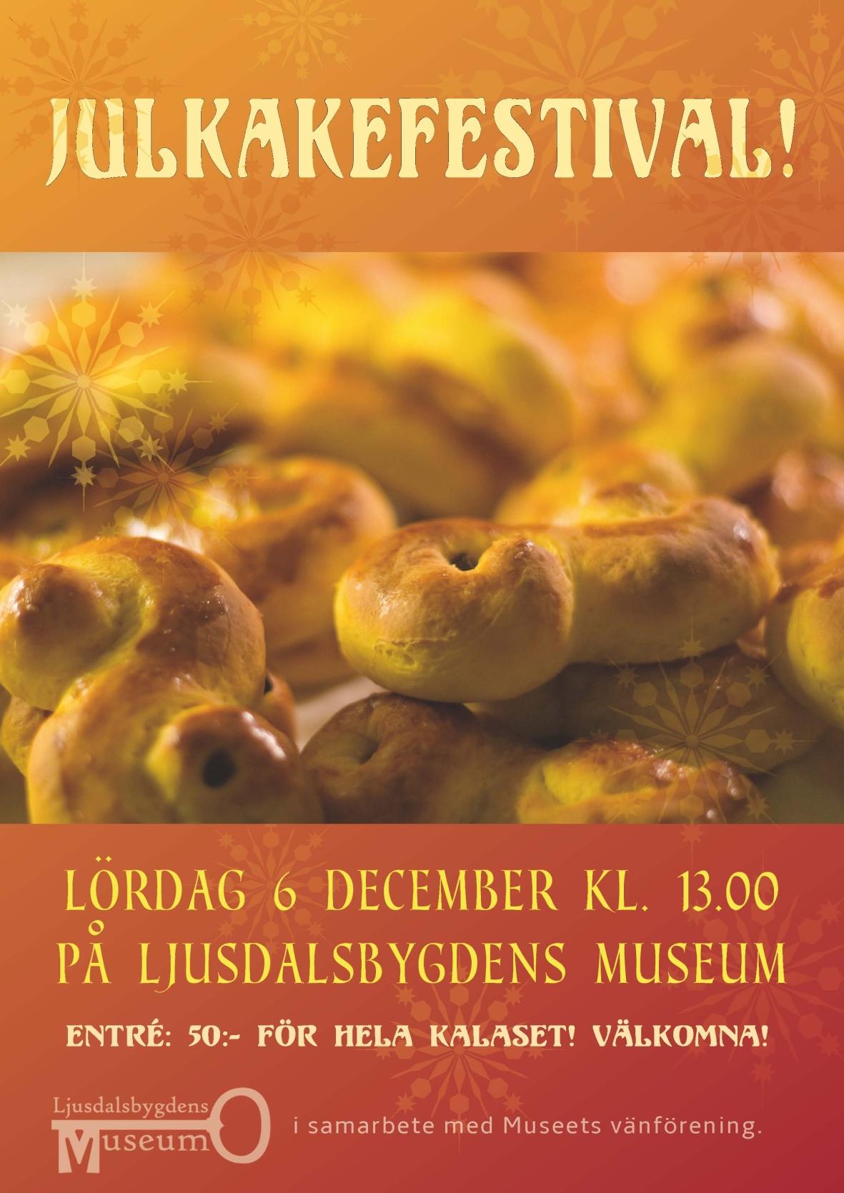 Julkakefestival på museet lördag 6 december kl 13!